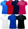 Polo femme maille piquée stretch