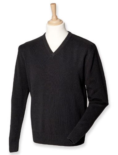 Pull pure laine manches longues col V