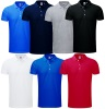 Polo homme maille piquée stretch